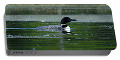 Loon On Indian Lake Portable Battery Charger