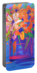 Loosey Goosey Flowers Portable Battery Charger by Terri Einer