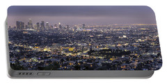 Los Angeles At Night From The Griffith Park Observatory Portable Battery Charger
