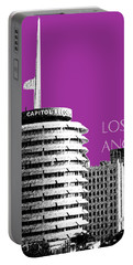 Los Angeles Skyline Capitol Records - Plum Portable Battery Charger