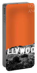 Los Angeles Skyline Hollywood - Coral Portable Battery Charger