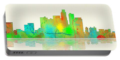 Los Angeles California Skyline Portable Battery Charger by Marlene Watson
