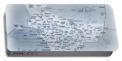 Los Angeles Tourist Map Portable Battery Charger