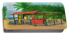 Los Pinones Beach Shack Puerto Rico Number Two Portable Battery Charger