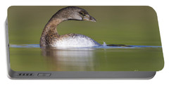 Portable Battery Charger featuring the photograph Loss-neck Grebe by Bryan Keil