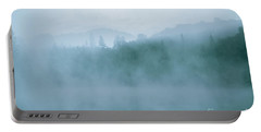 Lost In Fog Over Lake Portable Battery Charger