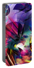 Portable Battery Charger featuring the digital art Lost In Hyperspace by David Lane