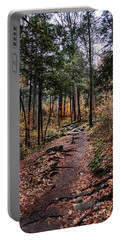 Portable Battery Charger featuring the photograph Lost In Thought On The Blue Ridge Parkway Trail by Debbie Green