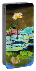 Lotus Above The Lily Pads Portable Battery Charger