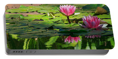 Lotus Flower Reflections Portable Battery Charger