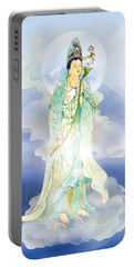 Lotus-holding Kuan Yin Portable Battery Charger by Lanjee Chee