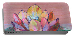 Portable Battery Charger featuring the painting Lotus I by Shadia Derbyshire
