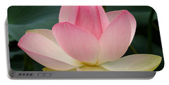 Lotus In Bloom Portable Battery Charger by Byron Varvarigos