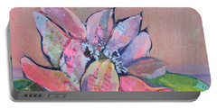 Portable Battery Charger featuring the painting Lotus Iv by Shadia Derbyshire