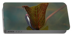Portable Battery Charger featuring the photograph Lotus Leaf by Michelle Meenawong