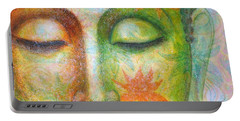 Lotus Meditation Buddha Portable Battery Charger by Sue Halstenberg