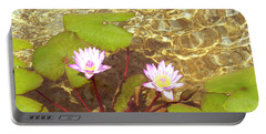 Portable Battery Charger featuring the photograph Lotus by Mini Arora