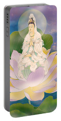 Lotus-sitting Avalokitesvara  Portable Battery Charger by Lanjee Chee