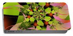 Portable Battery Charger featuring the digital art Loud Bouquet by Elizabeth McTaggart
