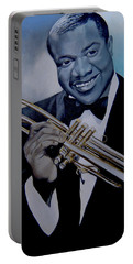 Louis Armstrong Portable Battery Charger by Chelle Brantley