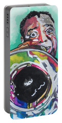 Louis Armstrong Portable Battery Charger by Chrisann Ellis