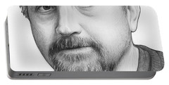 Louis Ck Portrait Portable Battery Charger by Olga Shvartsur