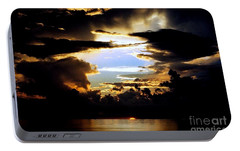 Portable Battery Charger featuring the photograph Louisiana Sunset Blue In The Gulf  Of Mexico by Michael Hoard