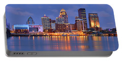 Louisville Skyline At Dusk Sunset Panorama Kentucky Portable Battery Charger