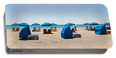 Lounge Chairs On The Beach, Delray Portable Battery Charger