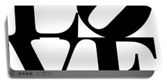 Love 20130707 Black White Portable Battery Charger