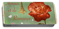 Love And Romance Portable Battery Charger by Claudia Ellis