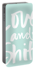 Love And Shit -greeting Card Portable Battery Charger
