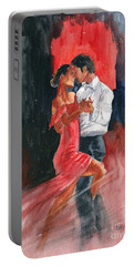 Love And Tango Portable Battery Charger by Melly Terpening