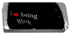 Love Being Black Portable Battery Charger by Xueling Zou