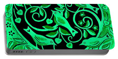 Love Birds, 2012 Woodcut Portable Battery Charger