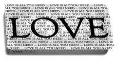 Love Is All You Need Portable Battery Charger