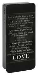 Love Is Patient Portable Battery Charger by Inspired Arts