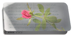 Love Letter Lyrics And Rose Portable Battery Charger