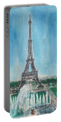 Love Of The Eiffel Portable Battery Charger by Mary Armstrong