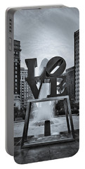 Love Park Bw Portable Battery Charger