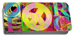 Portable Battery Charger featuring the photograph Love Peace And Rock And Roll Return To The Summer Of Love 20140605 by Wingsdomain Art and Photography