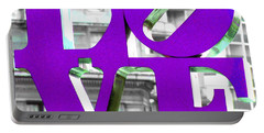 Love Philadelphia Purple Portable Battery Charger by Terry DeLuco