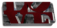 Love Philadelphia Red Mosaic Portable Battery Charger by Terry DeLuco