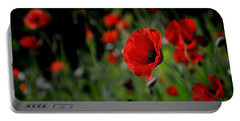 Portable Battery Charger featuring the photograph Love Red Poppies by Nava Thompson