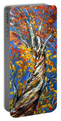 Portable Battery Charger featuring the painting Love That Reaches by Meaghan Troup