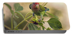 Lovebird On  Sunflower Branch  Portable Battery Charger