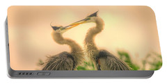 Portable Battery Charger featuring the photograph Lovebirds  by Dennis Baswell