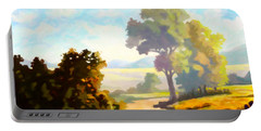 Portable Battery Charger featuring the painting Lovely Day by Anthony Mwangi