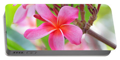 Portable Battery Charger featuring the photograph Lovely Plumeria by David Lawson