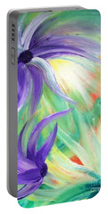 Portable Battery Charger featuring the painting Lovely by Teresa Wegrzyn